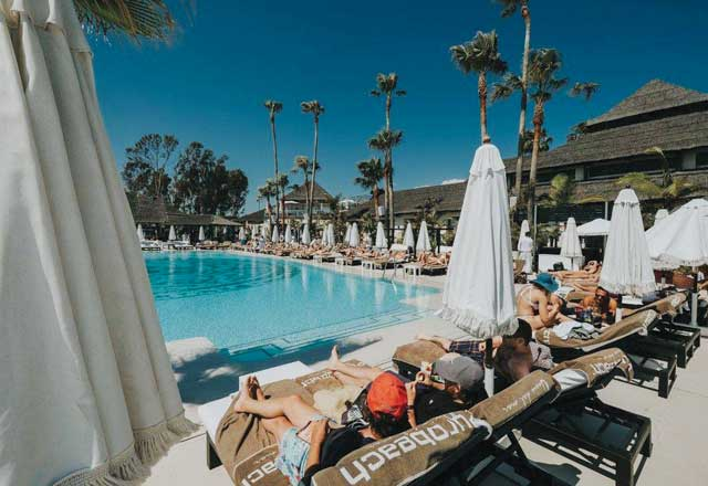 Purobeach Marbella swimming pool